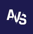 monogram letters initial logo design avs