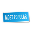 most popular square sticker on white vector image vector image