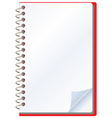 opened notepad vector image vector image