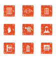 people cash icons set grunge style vector image vector image
