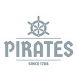 pirate ship logo simple gray style vector image vector image
