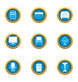 quality furniture icons set flat style vector image