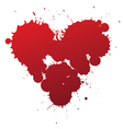 red splash heart vector image vector image