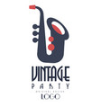 retro vintage party oroginal logo design emblem vector image vector image