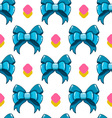 Seamless pattern cute cartoon bows-5 vector image vector image