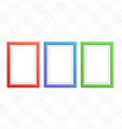 set colorful wooden frames vector image