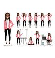 set of emotions for black african american vector image vector image