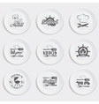 set plates on a white background vector image