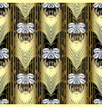 striped gold baroque 3d seamless pattern vector image vector image
