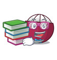 student with book fresh ripe mangosteen isolated vector image vector image