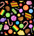 sweets seamless pattern biscuits cakes chocolate vector image vector image