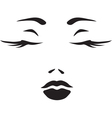 Symbol monochromatic face of woman vector image