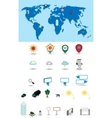 tags for a map vector image