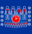 time management headline on slide with people vector image