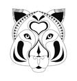 tribal feline icon vector image vector image