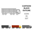 truck delivery icon for web vector image vector image