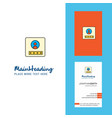 user profile creative logo and business card vector image vector image