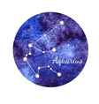 Watercolor horoscope sign Aquarius vector image