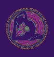 Woman Doing Yoga Pose And Mandala Design vector image vector image