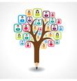 creative social people tree design concept vector image