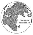 world map earth globe line vector image