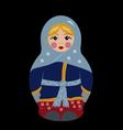 bubushka doll in winter vector image