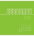 February 2016 year calendar vector image