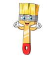 a cartoon cute paint brush mascot vector image vector image