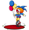 A clown running around in circle vector image vector image