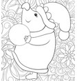 adult coloring bookpage a cute pig wearing a vector image vector image