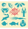 animals on theme seafood vector image