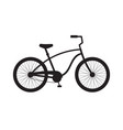 black flat cruiser bicycle icon logo vector image