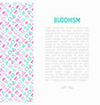 buddhism concept with thin line icons vector image vector image