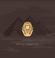 burial mask egyptian golden pharaohs vector image vector image