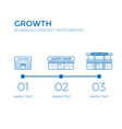 business growth infographics elements vector image vector image