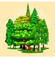 Cartoon set trees outdoor park Outdoor vector image vector image