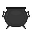 cauldron isolated on white vector image