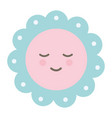 circular lace decorative kawaii character vector image