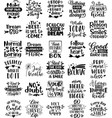 collection inspiration phrases slogans vector image