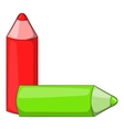 Color pencils icon cartoon style vector image