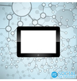 Digital tablet Molecule And Communication vector image vector image