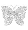 doodle zentangle butterfly banner wish vector image vector image