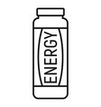 energy drink icon outline style vector image vector image