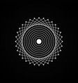 esoteric white geometry sign on black background vector image vector image