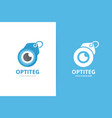 eye and tag logo combination optic and vector image