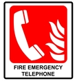 fire emergency telephone icons Signs of vector image vector image