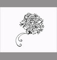 flower and floral ornament vector image vector image