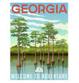 georgia travel poster or sticker vector image vector image