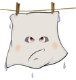 Ghost drying on a rope cartoon vector image vector image