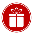 Gift button vector image vector image